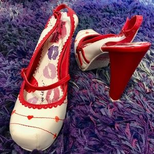 Betseyville  White With Hearts Heels